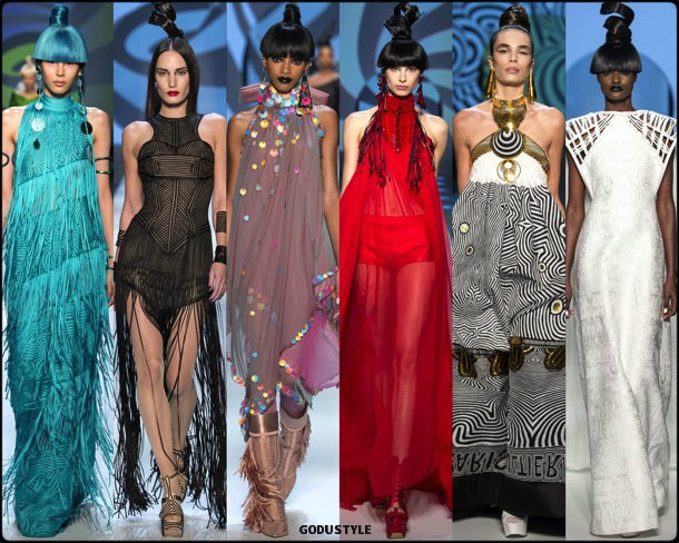 jean paul gaultier, couture, spring 2018, alta costura, verano 2018, looks, style, details, runways, fashion weeks
