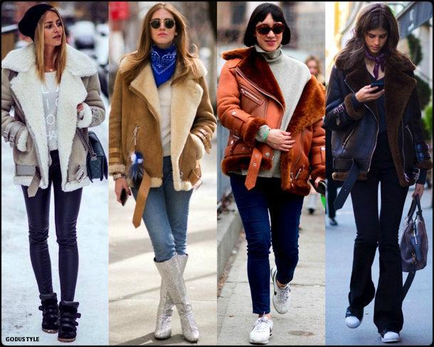 acne, acne studios, celebrity fashion, winter fashion, fashion, jacket, chiara ferragni, leather jacket, shearling, streetstyle