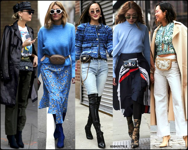 street style, trends, nyfw, fall 2018, fanny pack, looks, otoño 2018, tendencias, invierno 2019, fashion