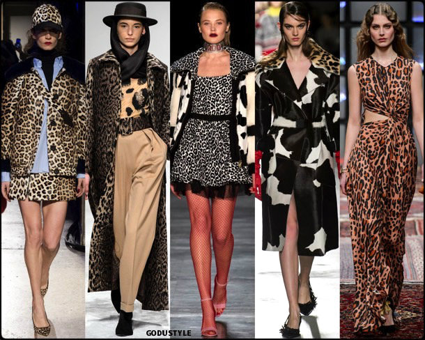 animal print, fall 2018, invierno 2019, trend, tendencia, mfw, looks, runway, style, details, milan fashion week
