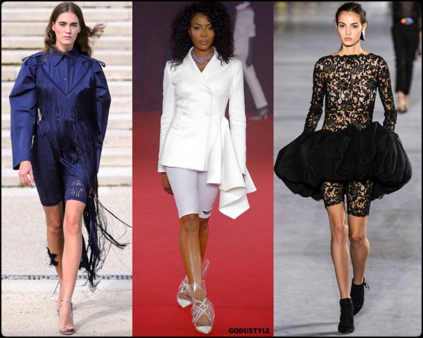bike shorts, spring 2018, trends, pantalon ciclista, tendencias, verano 2018, looks, runways, style