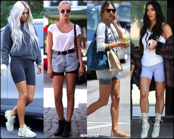 bike shorts, spring 2018, trends, shorts, pantalon ciclista, tendencias, verano 2018, looks, streetstyle