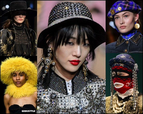 hat, sombrero, fall 2018, invierno 2019, trend, tendencia, mfw, looks, runway, style, details, milan fashion week