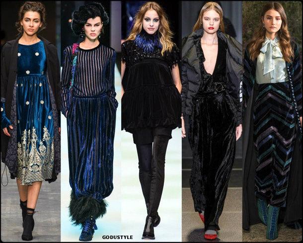 velvet, terciopelo, fall 2018, invierno 2019, trend, tendencia, mfw, looks, runway, style, details, milan fashion week