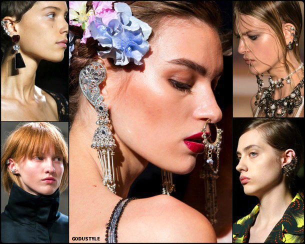 ear cuffs, jewels, spring 2018, trends, joyas, tendencias, details, verano 2018, looks, runways, style