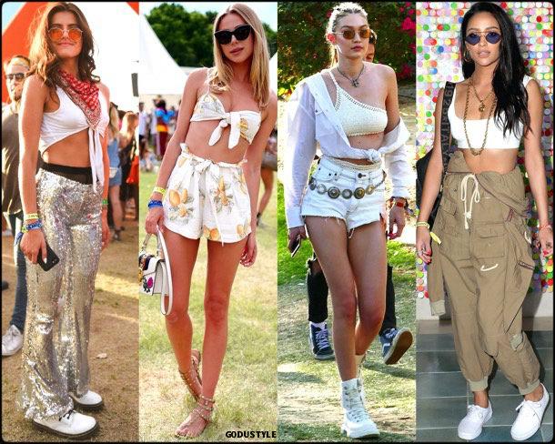 boho chic, looks, coachella, coachella 2018, trends, looks, style, tendencias, gigi hadid, crop tops, streetstyle