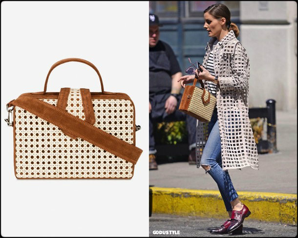 olivia palermo, raffia, bag, straw bag, spring 2018, trends, bolsos rafia, details, shopping, verano 2018, looks, style