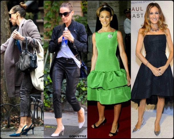 sarah jessica parker, kitten heels, spring 2018, trend, zapatos, tendencia, verano 2018, looks, streetstyle, shopping