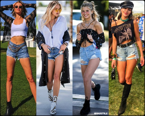 boho chic, looks, coachella, coachella 2018, trends, looks, style, tendencias, shorts, nina suess, streetstyle