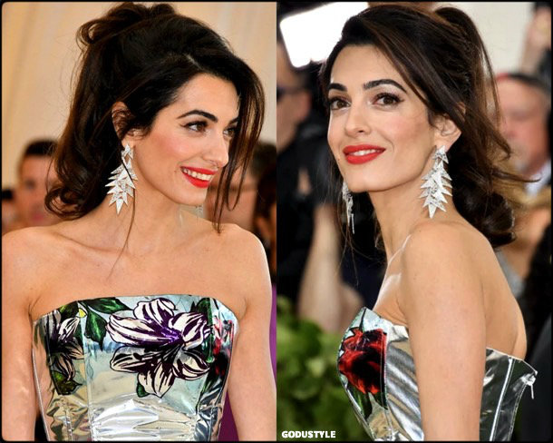 amal clooney, met 2018, gala, fashion, celebrity, look, style, details, celebrities, outfits, red carpet