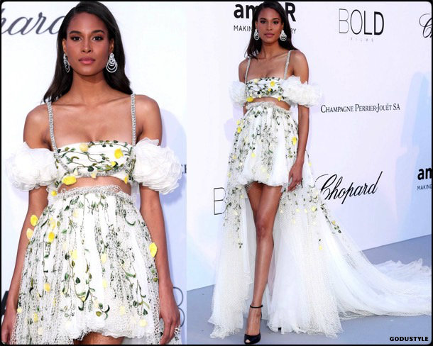 cindy bruna, fashion, looks, amfar, cannes 2018, style, party dresses, details, red carpets, celebrities, outfits