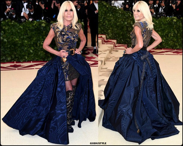 donatella versace, met 2018, gala, fashion, celebrity, look, style, details, celebrities, outfits, red carpet