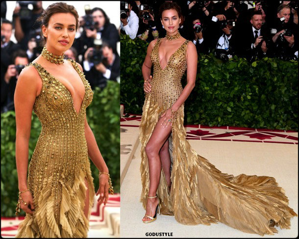 irina shayk, met 2018, gala, fashion, celebrity, look, style, details, celebrities, outfits, red carpet