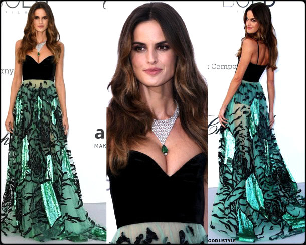 izabel goulart, fashion, looks, amfar, cannes 2018, style, party dresses, details, red carpets, celebrities, outfits