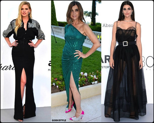 celebrities, fashion, looks, amfar, cannes 2018, style, party dresses, details, red carpets, celebrities, outfits