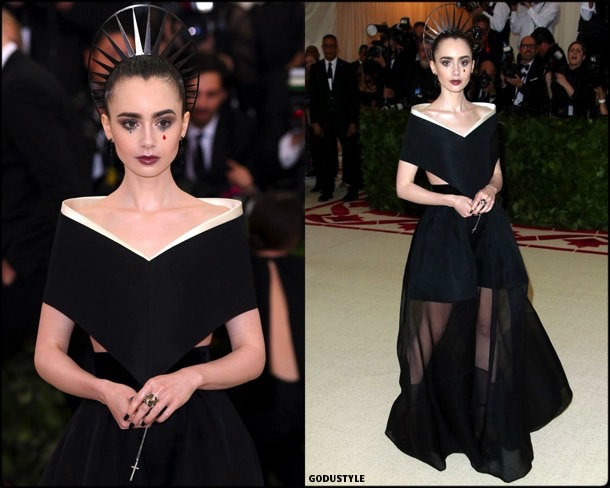 lily collins, met 2018, gala, fashion, celebrity, look, style, details, celebrities, outfits, red carpet