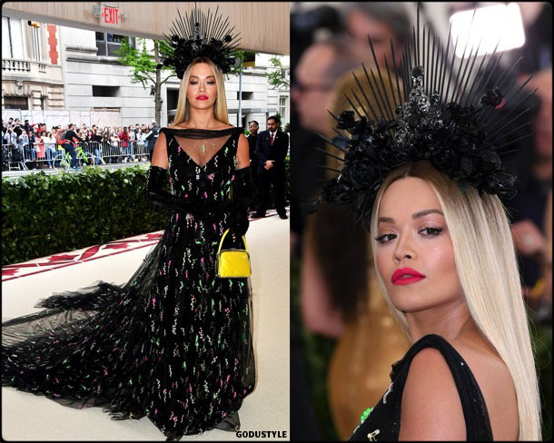 rita ora, met 2018, gala, fashion, celebrity, look, style, details, celebrities, outfits, red carpet