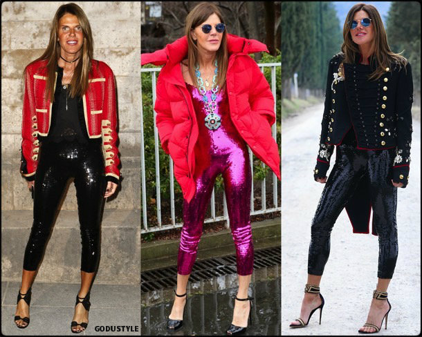 anna dello russo, sequin, lentejuelas, look, street style, fashion, trend, details, style, shopping, outfits, tendencias