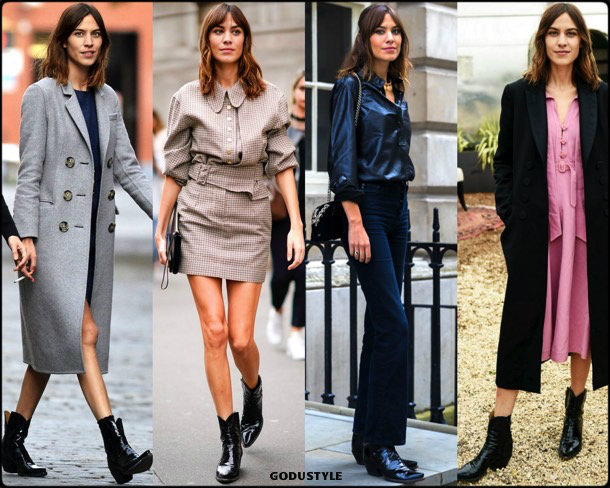 alexa chung, cowboy, boots, botas, vaqueras, looks, street style, fall 2018, trend, details, shopping, tendencias