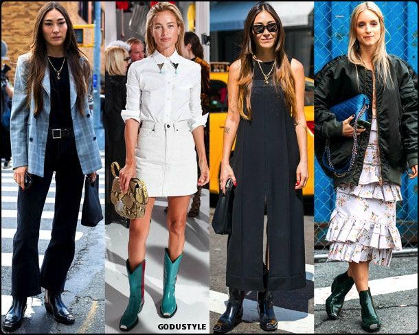 jayne min, calvin klein, cowboy, boots, botas, vaqueras, looks, street style, fall 2018, trend, details, tendencias
