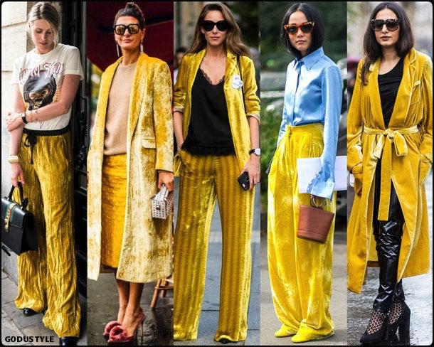 sofie valkiers, giovanna battaglia, yellow, amarillo, looks, street style, fall 2018, trend, details, shopping, tendencias