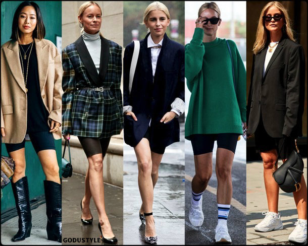 bike shorts, trends, fall 2018, street style, nyfw, spring 2019, looks, style, details, otoño 2019, ropa, moda, must-haves