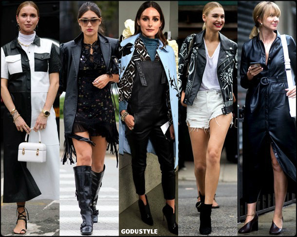 leather pants, trends, fall 2018, street style, nyfw, spring 2019, looks, style, details, otoño 2019, moda, must-haves