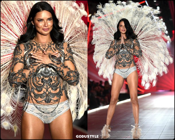 adriana lima, victorias secret, 2018, fashion show, desfile, victorias secret 2018, models, look, style, details