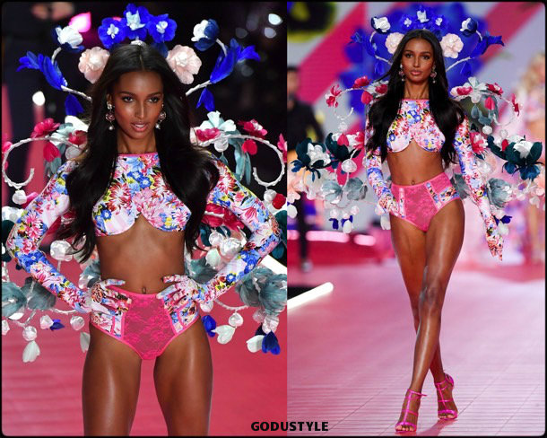 jasmine tookes, victorias secret, 2018, fashion show, desfile, victorias secret 2018, models, look, style, details