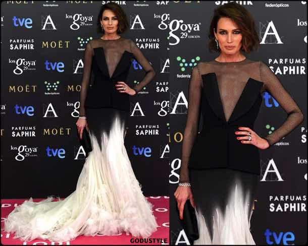 nieves alvarez, tuxedo dress, vestido tuxedo, trend, tendencia, vestido fiesta, party dress, shopping, look, style