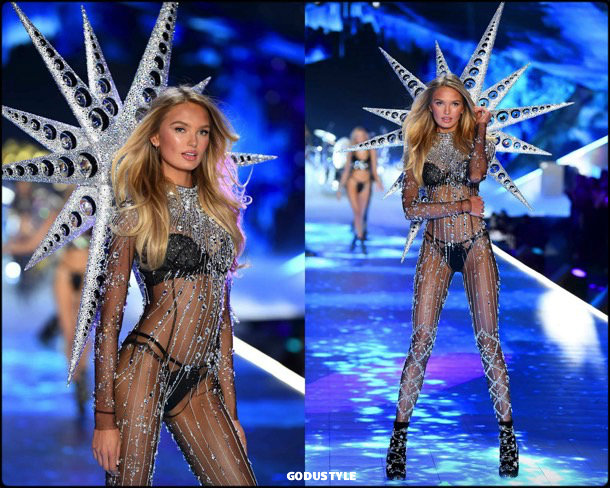 romee strijd, victorias secret, 2018, fashion show, desfile, victorias secret 2018, models, look, style, details