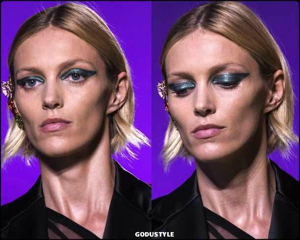 versace, beauty, belleza, beauty look, makeup, party, look, spring 2018, trends, verano 2018, tendencias