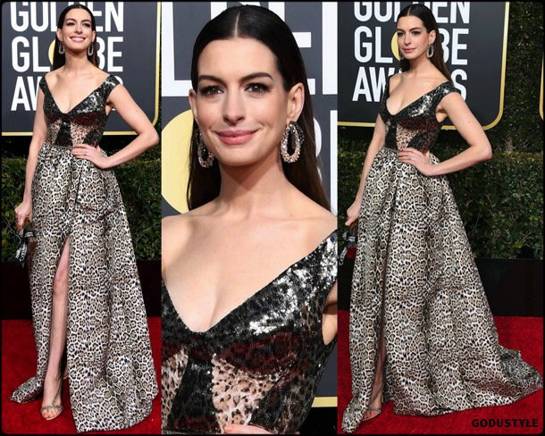 anne hathaway, golden globes, party, looks 2019, red carpets, looks, style, details, fashion, globos oro