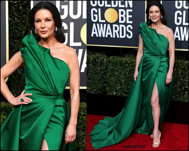 catherine zeta jones, golden globes, party, looks 2019, red carpets, looks, style, details, fashion, globos oro