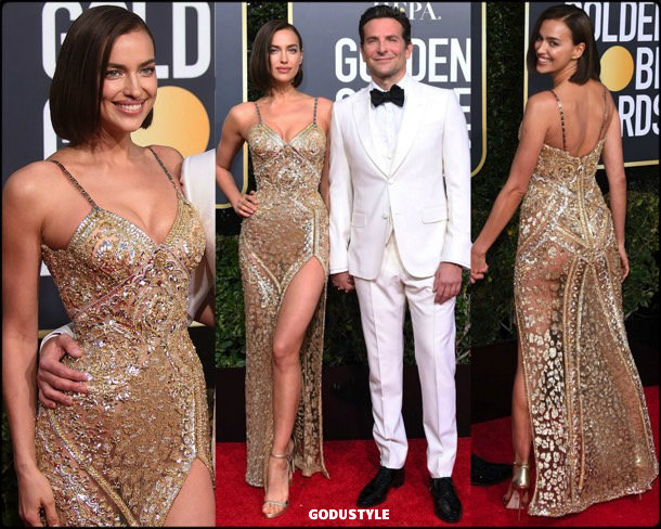 irina shayk, golden globes, party, looks 2019, red carpets, looks, style, details, fashion, globos oro