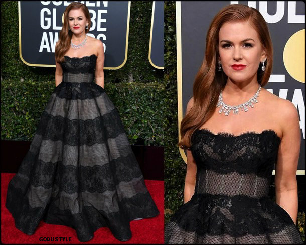 isla fisher, golden globes, party, looks 2019, red carpets, looks, style, details, fashion, globos oro