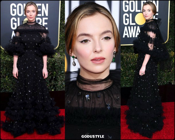 jodie comer, golden globes, party, looks 2019, red carpets, looks, style, details, fashion, globos oro