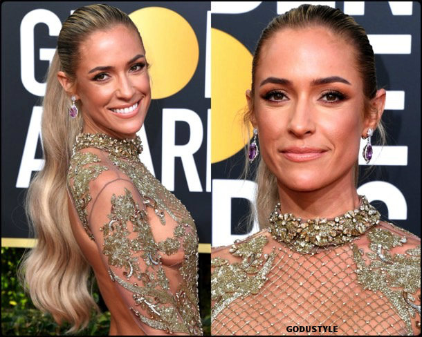 kristin cavallari, golden globes, party looks 2019, red carpets, beauty look, style, details, fashion