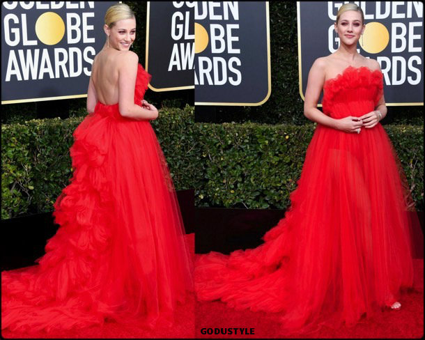 lili reinhart, golden globes, party, looks 2019, red carpets, looks, style, details, fashion, globos oro