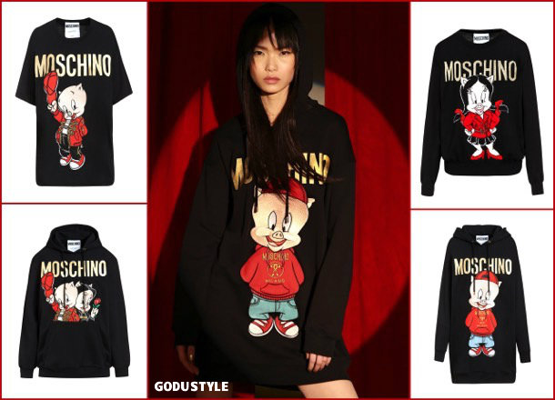 moschino, fashion, chinese new year, pig year, capsule collection, shopping, 2019, collection, look, style