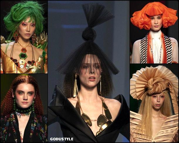 jean paul gaultier, beauty, look, makeup, belleza, maquillaje, couture, spring 2019, verano 2019, style, details