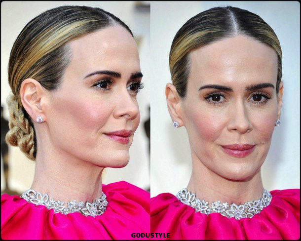 sarah-paulson-oscars-2019-red-carpet-best-dressed-beauty-look-style-details-godustyle