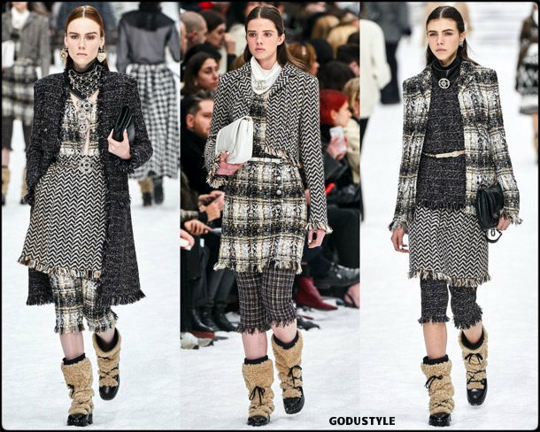 chanel, fall 2019, invierno 2020, collection, pfw, look, style, details, shoes, jewelry, accessories, beauty, karl lagerfeld