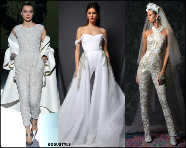 jumpsuit, bridal, spring 2020, trends, novias, verano, 2020, tendencias, look, style, details, wedding dress, mono