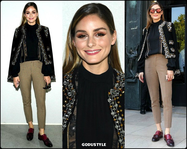 olivia palermo, look, elie saab, front row, couture, fall 2019, style, details, shopping, outfit, streetstyle