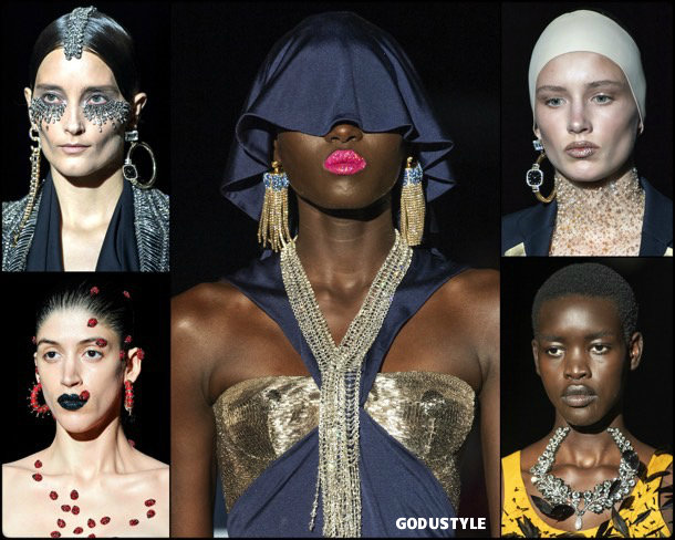 schiaparelli, fashion, beauty, look, couture, fall 2019, style, details, makeup, hair, trends, belleza, moda, otoño 2019, tendencias