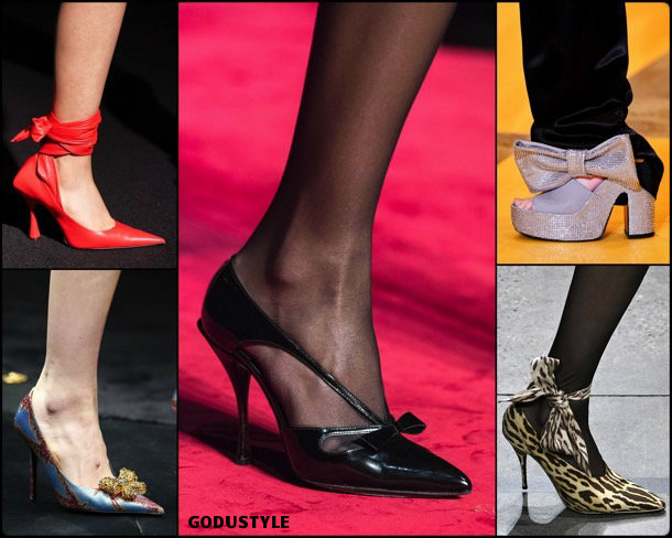 bow details, fashion, shoes, fall 2019, trends, detalle lazos, zåpatos, moda, invierno 2020, tendencias, runway, pasarelas