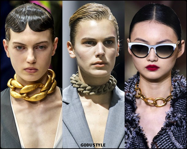 chain necklaces, jewelry, trends, fall 2019, winter 2020, fashion, look, style, details, joyas, tendencias, otoño 2019, invierno 2020, moda, design