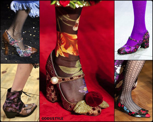 flower prints, fashion, shoes, fall 2019, trends, estampados florales, zåpatos, moda, invierno 2020, tendencias, runway, pasarelas