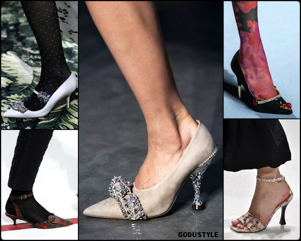jewelry shoes, fashion, shoes, fall 2019, trends, calzado joya, zåpatos, moda, invierno 2020, tendencias, runway, pasarelas